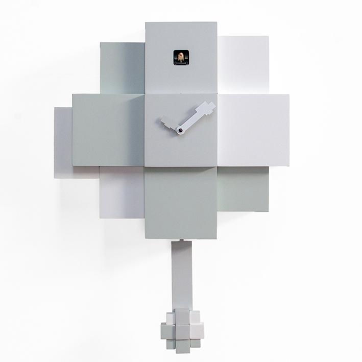 CHOCO . cuckoo – white and gray