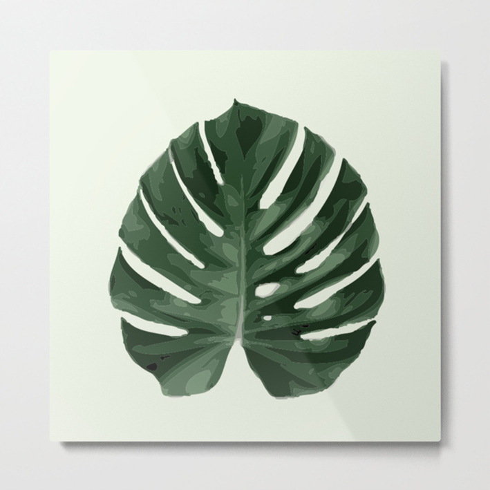 MONSTERA #1 METALPRINT ART