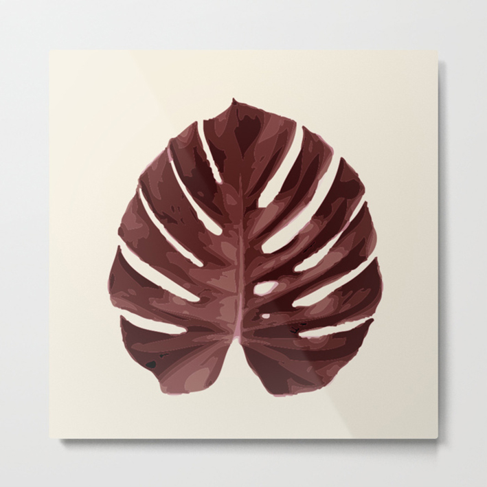 MONSTERA ANCORA #1 METALPRINT ART
